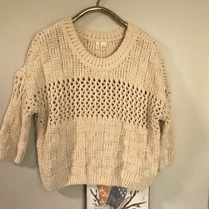Anthropologie Moth Cable Knit Pullover Sweater M